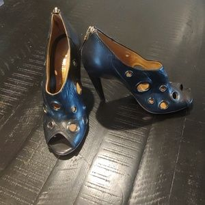 L.A.M.B black leather heels